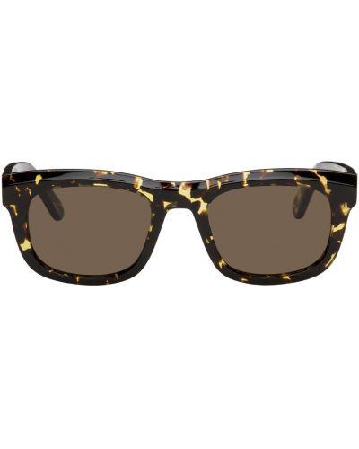 Złote okulary - czarne Han Kjobenhavn