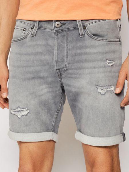 Szare szorty jeansowe Jack&jones