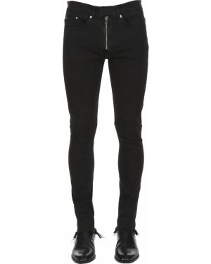 Czarne jeansy skorzane Askyurself