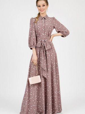 Платье рубашка - бежевое Marichuell