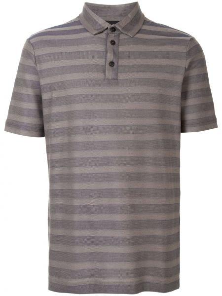 Koszula krótkie z krótkim rękawem klasyczna w paski Giorgio Armani