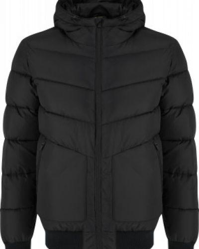 Черная утепленная куртка на молнии Demix