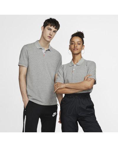 T-shirt dzianinowa - szara Nike