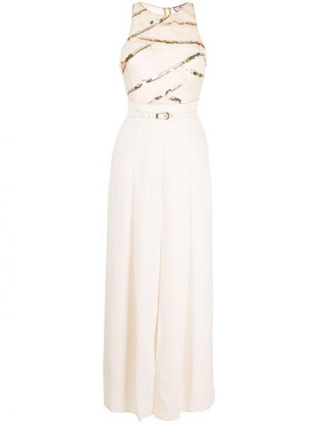 Плиссированное платье с пайетками с завязками Elisabetta Franchi