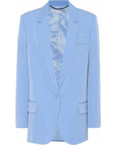 Пиджак шерстяной синий Stella Mccartney