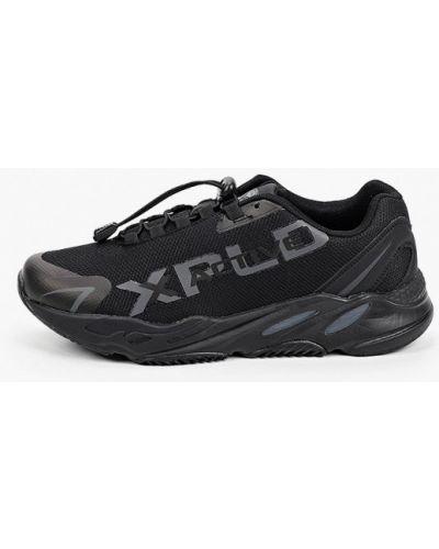 Кожаные черные кроссовки X-plode