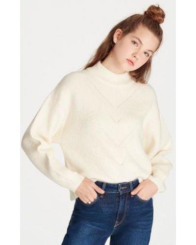 Акриловый белый свитер Mavi