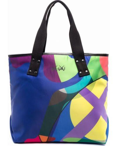 Niebieska torebka z printem Sacai