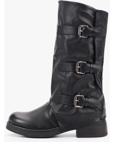 Ботинки на каблуке черные осенние Martin Pescatore