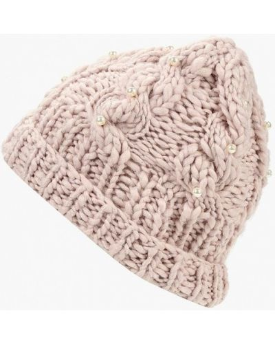 Розовая шапка осенняя Zarina