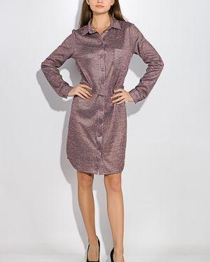Платье-рубашка для офиса с поясом Time Of Style