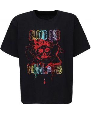 Czarny t-shirt bawełniany z printem Siberia Hills