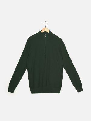 Zielony sweter z akrylu Trendyol