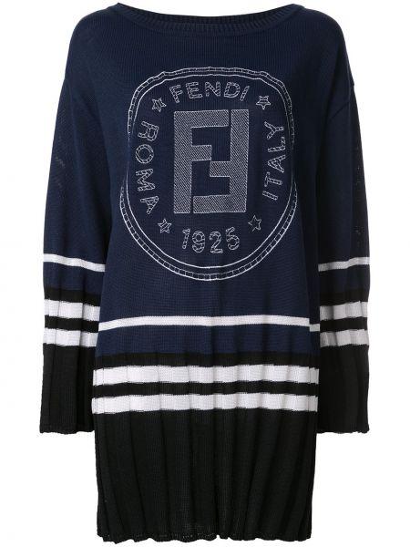 Платье винтажная в рубчик Fendi Pre-owned
