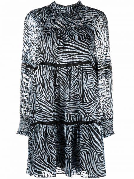 Платье миди с длинными рукавами - синее Michael Kors
