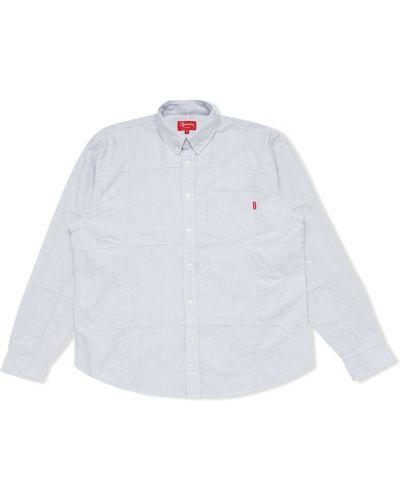 Biała koszula oxford bawełniana z długimi rękawami Supreme