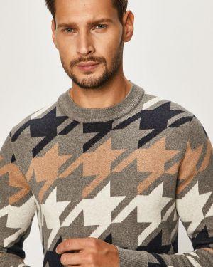 Sweter z wzorem z dzianiny Tommy Hilfiger Tailored