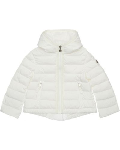 Пуховая белая куртка с капюшоном Moncler