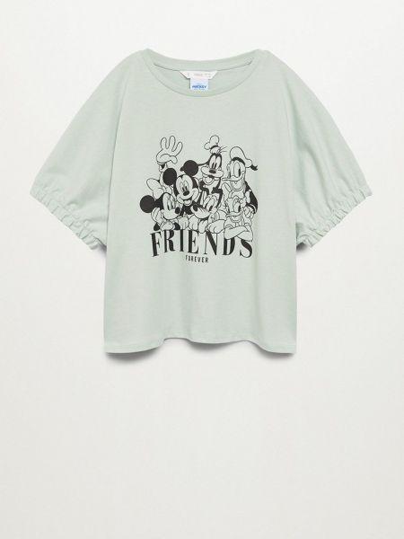 Трикотажная прямая футболка с вырезом Mango Kids