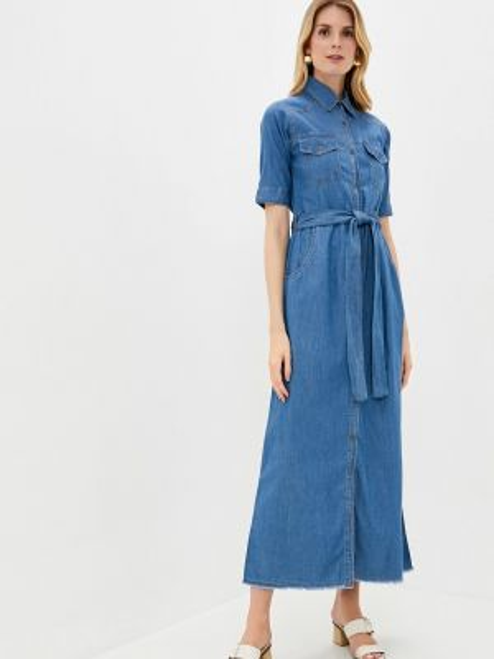 Синее джинсовое платье снежная королева