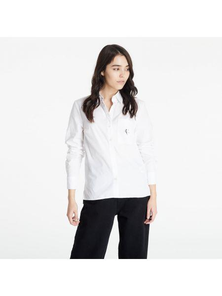 Koszula jeansowa - biała Calvin Klein Jeans