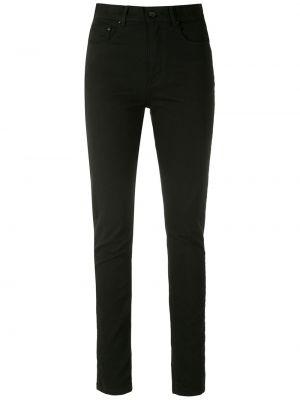 Зауженные черные брюки дудочки с карманами Amapô