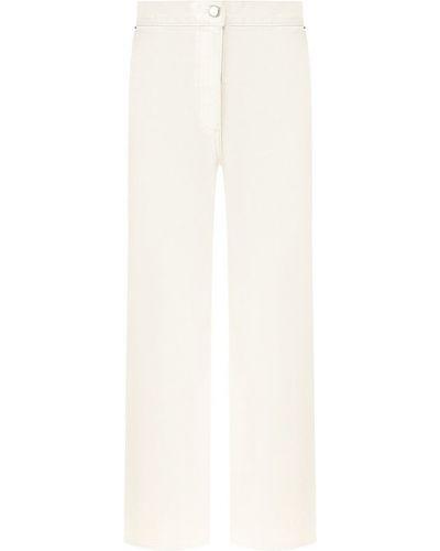 Укороченные джинсы расклешенные белые Rachel Comey