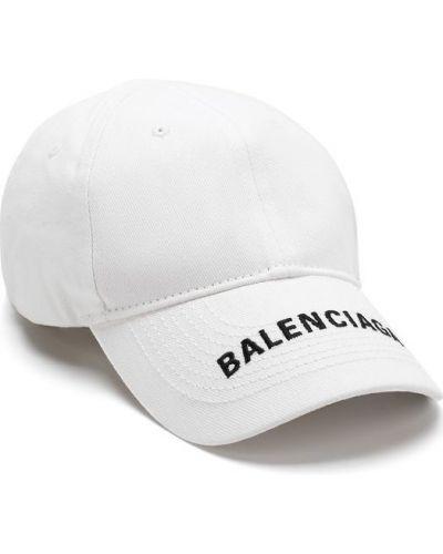 Белая бейсболка с логотипом Balenciaga