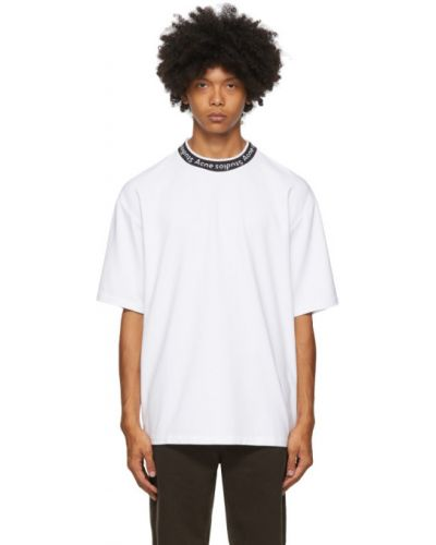 Z koszulką koszula z logo na niskim poziomie żakard Acne Studios