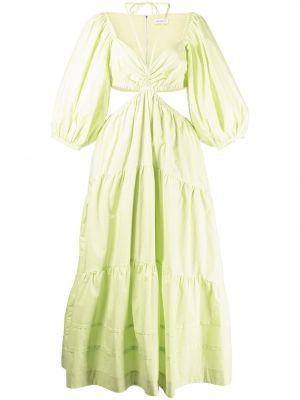 Хлопковое платье миди - зеленое Nicholas