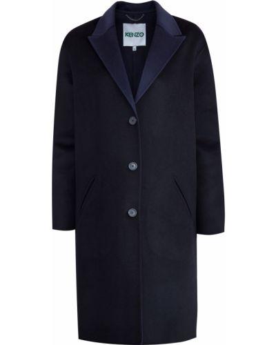 Пальто оверсайз с воротником шерстяное с карманами Kenzo
