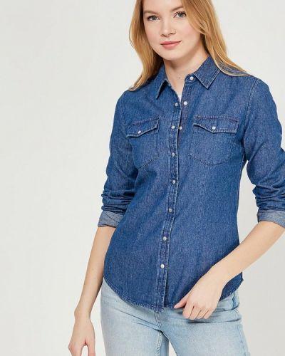 Джинсовая рубашка синяя Modis