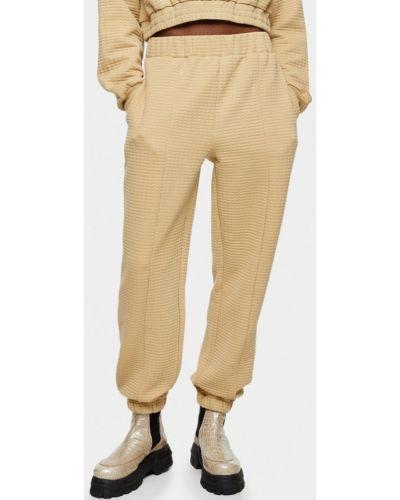 Бежевые спортивные брюки Topshop