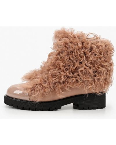 Розовые кожаные ботинки Graciana