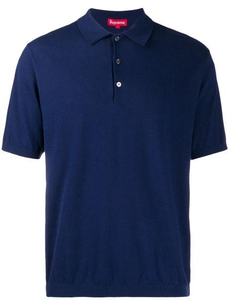 Niebieski klasyczny bawełna koszula klasyczna z mankietami Supreme
