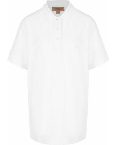Белое поло с логотипом Burberry