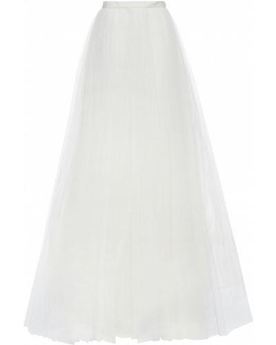 Biała spódnica maxi tiulowa Carolina Herrera