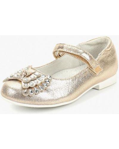 Туфли золотые на каблуке Honey Girl