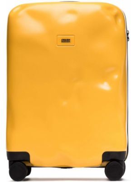 Желтая сумка на молнии с карманами Crash Baggage