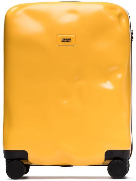 Желтый чемодан на молнии с карманами Crash Baggage
