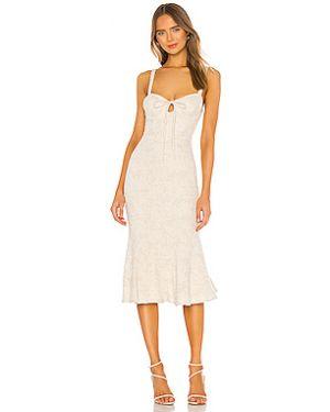 Платье миди с декольте на молнии Majorelle