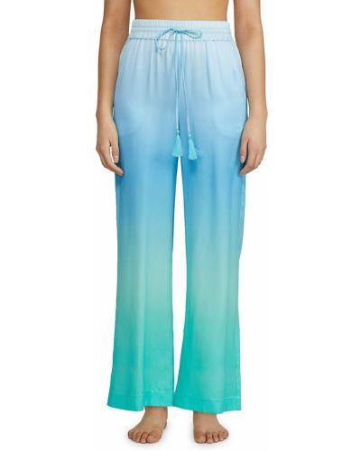 Шелковые синие брюки с карманами Badgley Mischka