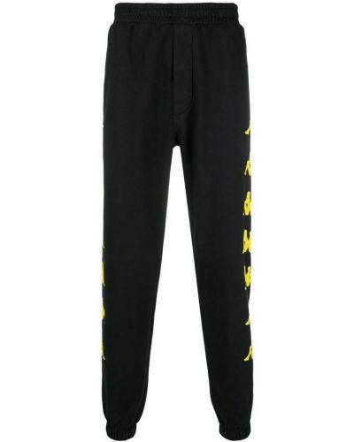 Спортивные брюки черные в полоску Kappa