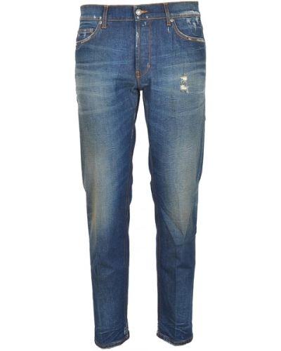 Niebieskie mom jeans Aglini