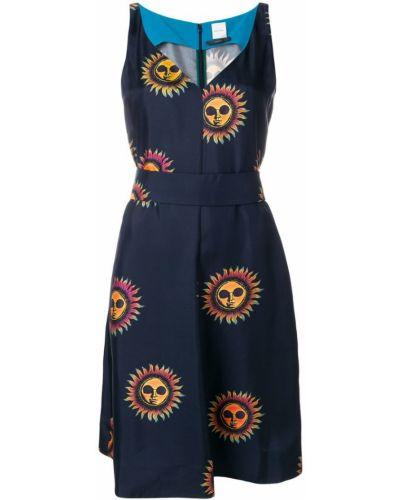 Синее платье с V-образным вырезом Paul Smith