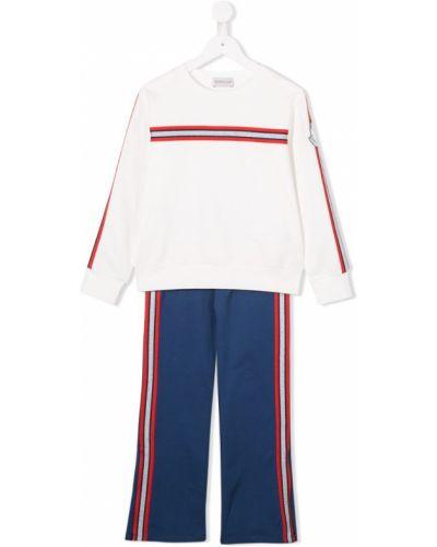 Спортивный костюм белый Moncler Kids