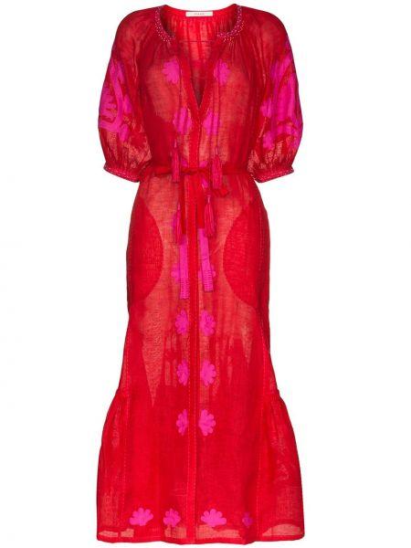 Платье миди с поясом с кисточками Vita Kin