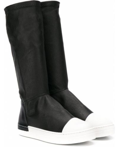 Мягкие кожаные черные сапоги Cinzia Araia Kids