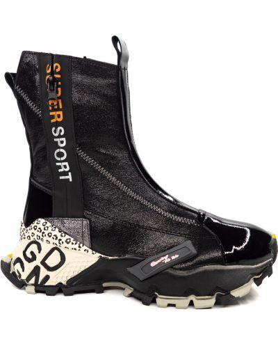 Кожаные ботинки - черные Magza