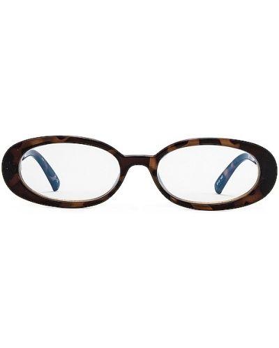 Niebieskie złote okulary Le Specs